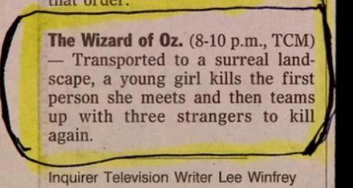 Best film synopsis ever!