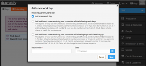 Planning - Add work day