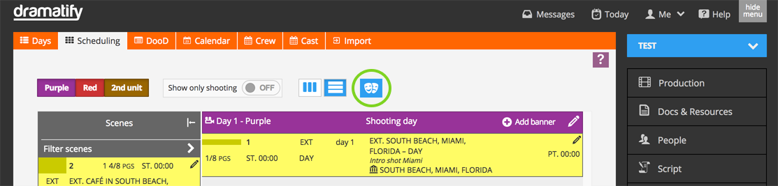 Scheduling, Csst/Character icon