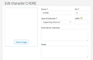 Edit character in Dramatify