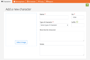 Adding characters to your production