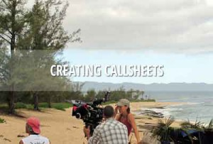 Call sheets for TV and film production