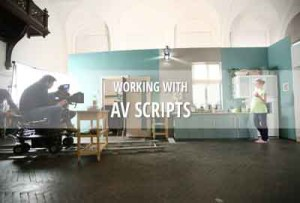 AV script for documentaries, commercials & non-fiction