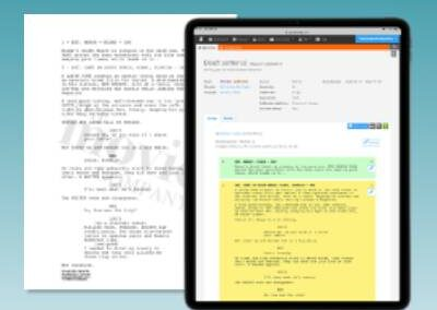 Drama screenplays with script sides & watermarking