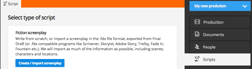 Select script type