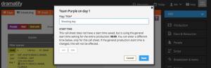 Scheduling: Add custom start time