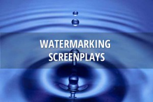 Watermarking screenplays