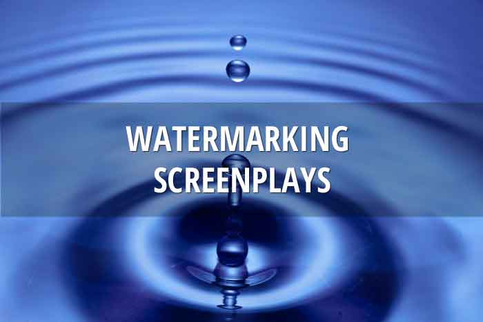 Watermarking screenplays and adding cover pages