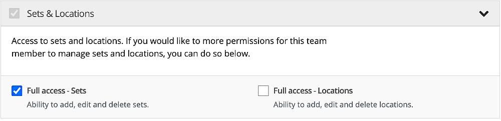 Set permissions on set pages