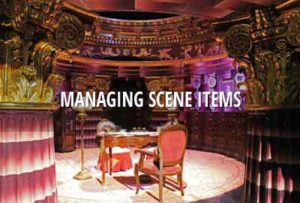 Managing scene items for film, TV and VR