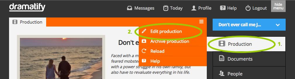 Edit production