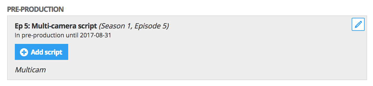 Adding scripts to episode