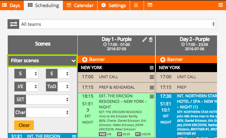 Filter episodes in scheduling