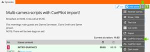 Import a Cue Pilot file