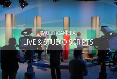 Working with multi-camera live/studio scripts