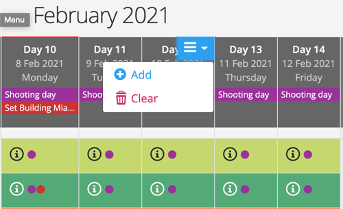 Crew scheduling - bulk edit day-range