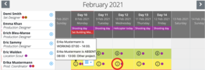 Crew scheduling - edit multiple bookings
