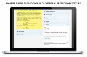 Makeup & Hair breakdown for TV, film, drama, entertainment, commercials online software for teams