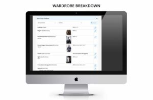 Wardrobe breakdown for TV, film, drama, entertainment, commercials online software for teams